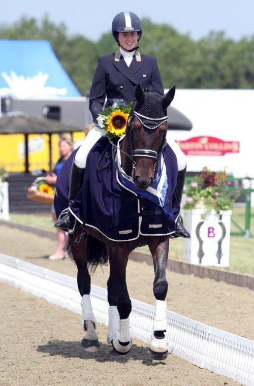 Lucy Pincus and Don Calisto - Winners of the 2014 CDI Junior Team Test at Hickstead
